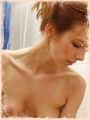 Tight Red Head Teen Bathing