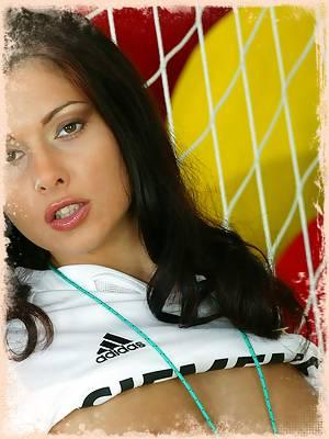 Sexy Babe Loves Madrid Football