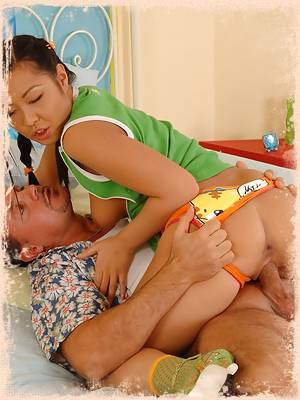 Tiny Asian Mouth Gets Stretched Out Wide