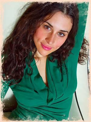 In Her Green Dress